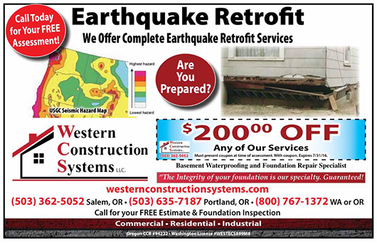 WCS Earthquake Retrofit Coupon
