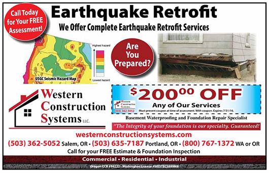 WCS Earthquake Retrofit Coupon